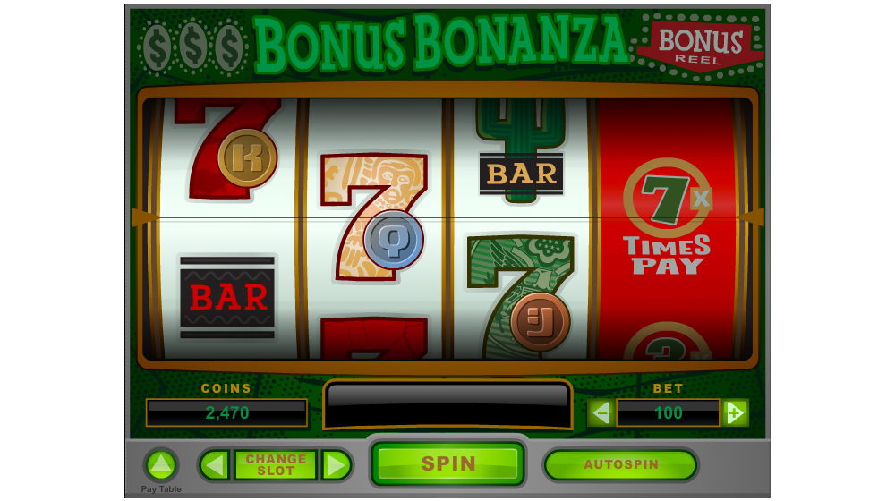 Bonus bonanza slot machine