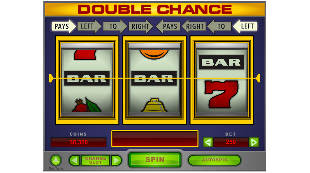 Double chance slot machine