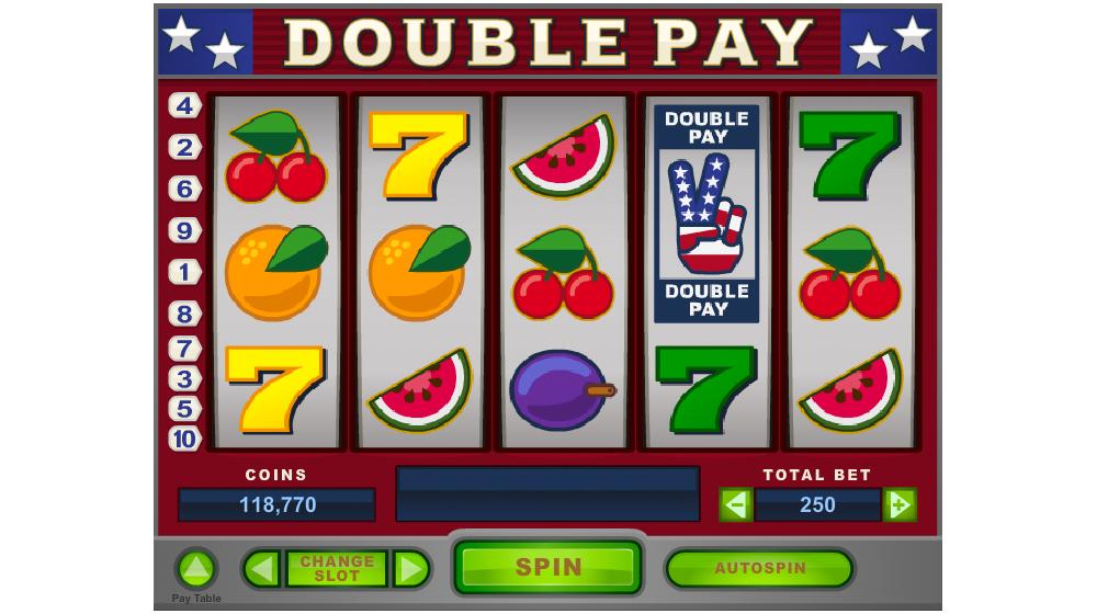 Double pay slot machine