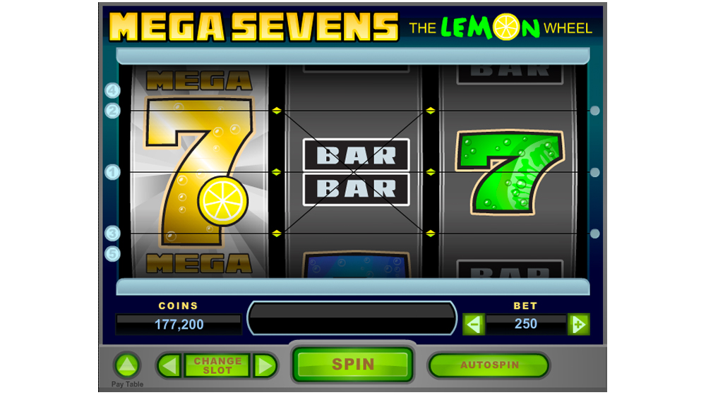 Mega sevens slot machine