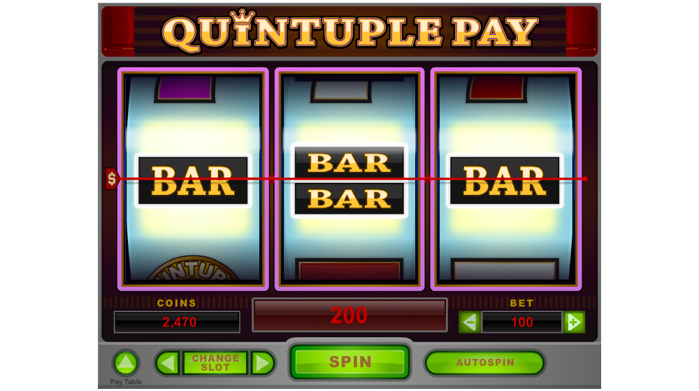 quintiple pay slot machine