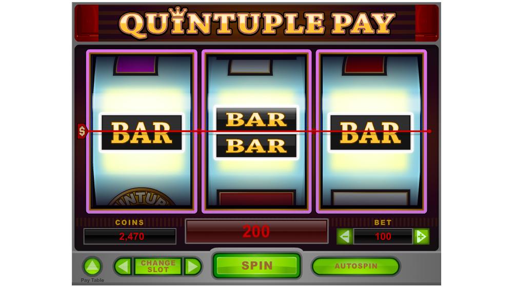 quintiple pay slot machine