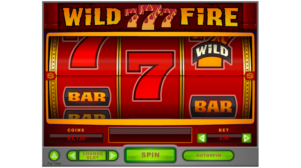 Wild fire slot machine