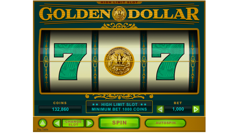 Golden dollar three wheel