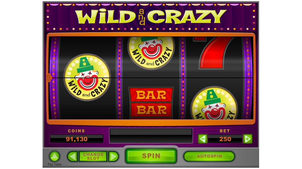 Wild and crazy slot machine