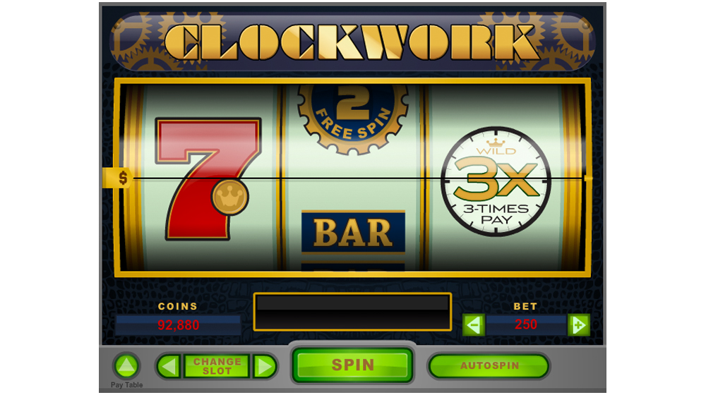 CLockwork slot machine