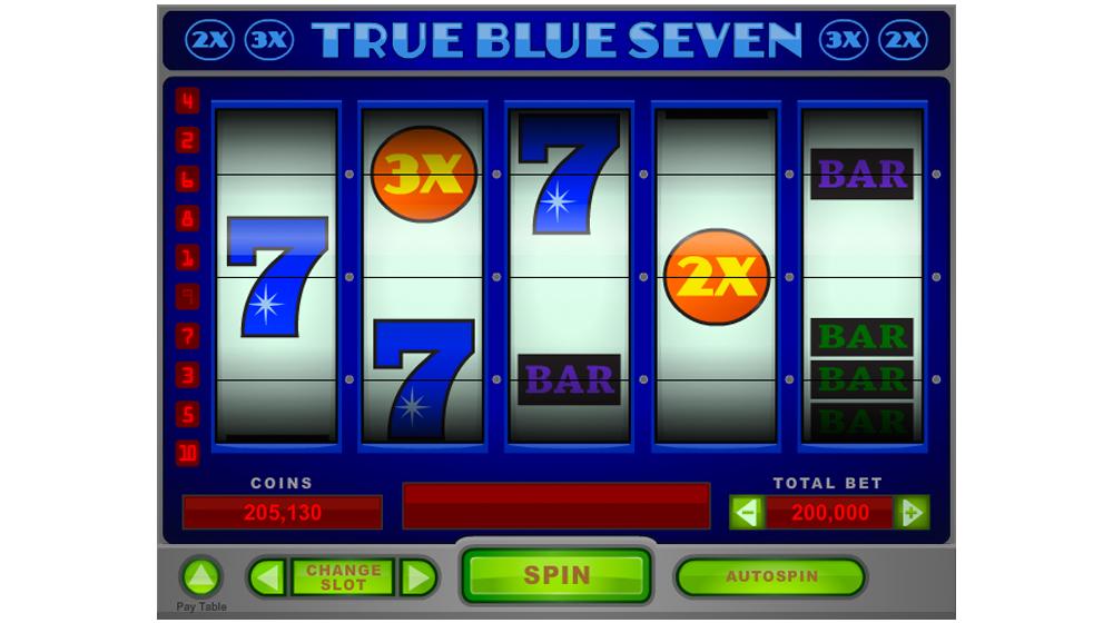 true blue slot machine