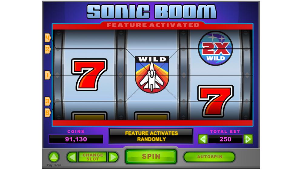 Sonic boom slot machine
